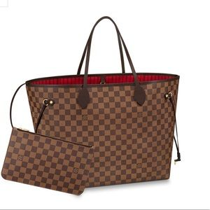 AU Louis Vuitton Neverfull GM in Damier Ebene